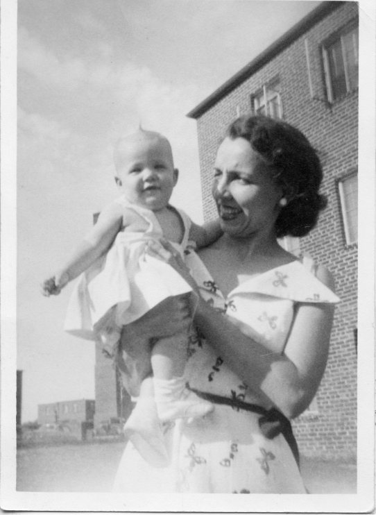 1952, my mother and I.