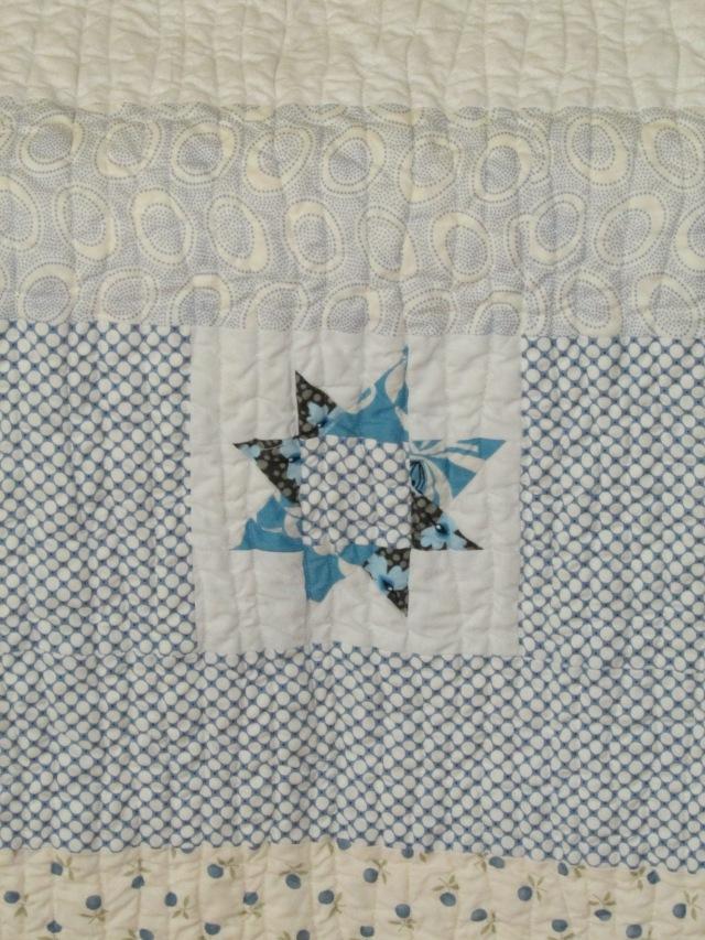 Sam Taber's baby quilt (back)