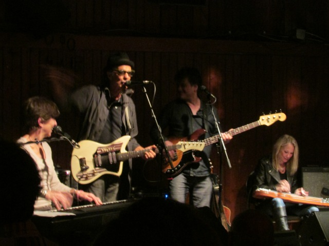 Marcia Ball, Johnny Nicholas and far right Cindy Cashdollar on lap steel!