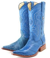 These are eel skin boots.