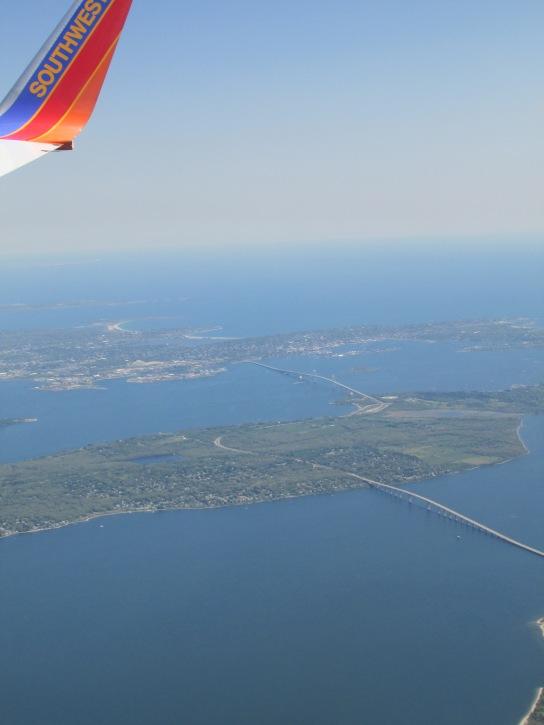 Jamestown and Newport bridges.