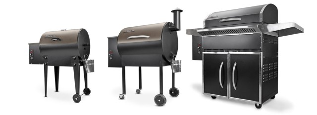 Traeger Grills, with wood pellets.
