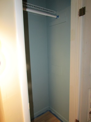 COAT CLOSET EMPTIED AND PAINTED.