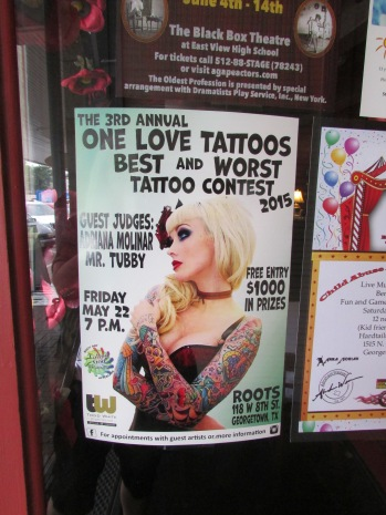 We decided not to get tattoos and enter the contest.