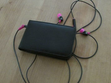 Ipod.  Ready with new songs.
