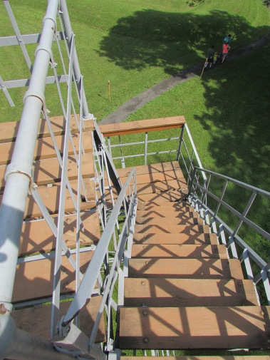 Stairs to the lookout tower.