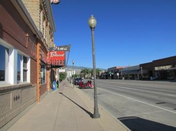 The main street through Cody at 8 AM.
