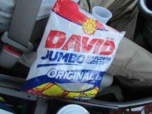 The last bag of sunflower seeds.  Banjo Man eats thousands of 'em.