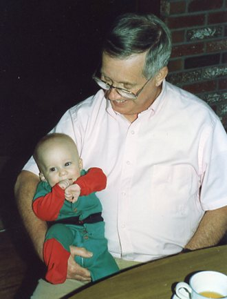 1990 Christmas, Dad and Thomas003