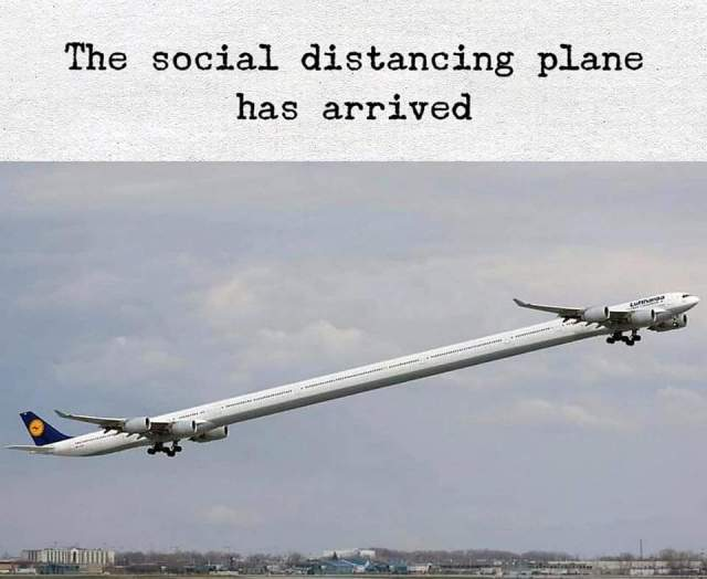 social distance plane